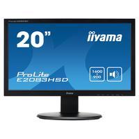 "Iiyama monitor: ProLite 19.5"" LED monitor - Zwart"