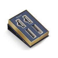 Waterman set: Duo Pen Set - Zwart, Blauw, Chroom