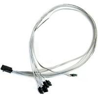 Adaptec kabel: ACK-I-HDmSAS-4SATA-SB-.8M - Zilver