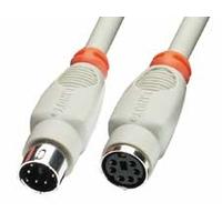 Lindy PS/2 1m PS2 kabel - Grijs