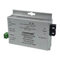 "ComNet Industrially Hardened 100Mbps Media Converter with PoE+, Mini, ""B"" Unit media converter"