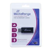 MediaRange geheugenkaartlezer: USB 2.0 Cardreader Stick - Zwart