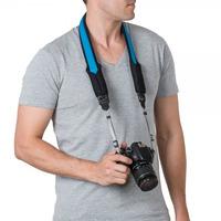 Pacsafe camera riem: Carrysafe 75 GII - Zwart, Blauw
