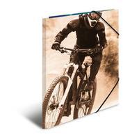 HERMA map: Elasticated folder A4 cardboard mountainbike - Multi kleuren