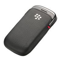 BlackBerry mobile phone case: Leather Pocket, Curve 9220/9310/9320 - Zwart