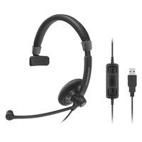 Sennheiser headset: SC 40 USB CTRL BLACK - Zwart