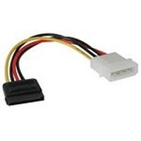 C2G Serial ATA Power Adapter Cable - Power adapter - 4 PIN internal power (M) - 15 pin SATA power (M) - 15 cm - multicolour