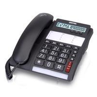 SWITEL dect telefoon: 10 speed dial buttons, LED, 35 dB, 737g, black - Zwart