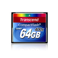 Transcend flashgeheugen: 400x CompactFlash Card, 64GB - Zwart