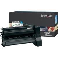 Lexmark cartridge: C77x, X772e 10K cyaan printcartridge