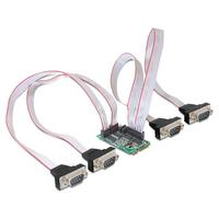 DeLOCK interfaceadapter: MiniPCIe I/O PCIe full size 4 x serial RS-232 with Power Management