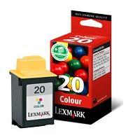 Lexmark inktcartridge: #20 / 15M0120E Color Print Cartridge - Cyaan, Magenta, Geel