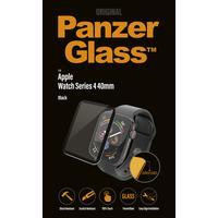 Panzerglass screen protector: Apple Watch Series 4 Screen Protector, 40mm Black, Curved Edges - Zwart