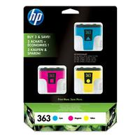 HP inktcartridge: 363 originele inktcartridges, 3-pack voor o.a Photosmart C6280 - Cyaan, Magenta, Geel