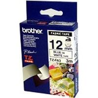 Brother labelprinter tape: Fabric Labelling Tape - 12mm, Blue/White
