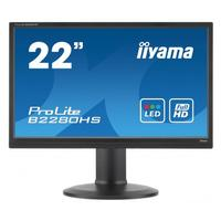 """Iiyama monitor: ProLite 22"""" Full HD/LCD monitor met LED-backlights en Blue Light Reducer - Zwart"""