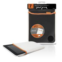 Yarvik tablet case: Tablet Neoprene Sleeve 7i Black/White - Zwart, Wit