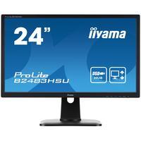 "Iiyama monitor: ProLite B2483HSU-B1DP 24"" Full HD TN - Business - Zwart"