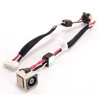 HP notebook reserve-onderdeel: DC-In cable - Zwart