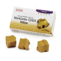 Xerox inkt stick: Originele WorkCentre C2424 Solid Ink geel (3 blokjes)