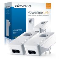 Devolo powerline adapter: dLAN 550 duo+ Starter Kit - Wit