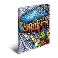 HERMA map: Elasticated folder A4 PP graffiti - Multi kleuren