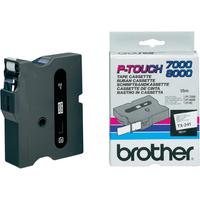 Brother labelprinter tape: Gelamineerd tape - 18mm, zwart/wit