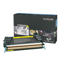 Lexmark cartridge: C736, X736, X738 10K gele tonercartridge - Geel