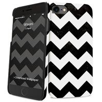I-Paint mobile phone case: Waves - Zwart, Wit