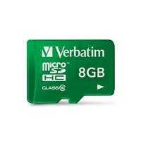 Verbatim flashgeheugen: 8GB Tablet microSDHC Class 10 - Groen