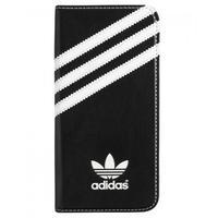 Adidas mobile phone case: booklet tasje - zwart - voor Apple iPhone 6 - Zwart, Wit