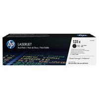 HP cartridge: 131X 2-pack originele zwarte LaserJet tonercartridges, 2-pack