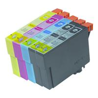 MediaRange inktcartridge: ink cartridges, for Epson® T1631 - T1634 series, with chip, Set 5 - Zwart, Cyaan, Magenta, .....
