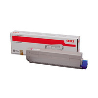 OKI cartridge: Toner voor C831 / C841, Magenta, 10000 Pagina's