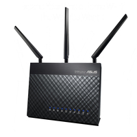 ASUS wireless router: DSL-AC68U - Zwart
