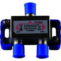 Schwaiger kabel splitter of combiner: VTF8842 241 - Zilver