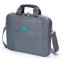 Dicota laptoptas: Slim Case BASE 12-13.3 Grey/Blue - Blauw, Grijs