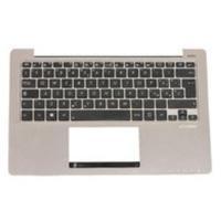 ASUS Keyboard, west balkan Notebook reserve-onderdeel - Zwart, Zilver
