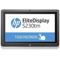HP touchscreen monitor: EliteDisplay S230tm - Zwart, Zilver