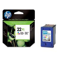 HP inktcartridge: 22XL originele drie-kleuren inktcartridge - Cyaan, Magenta, Geel