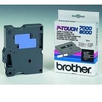Brother labelprinter tape: Gelamineerd tape - 6mm, wit/zwart