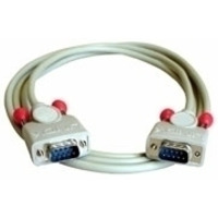 Lindy signaal kabel: RS232 cable 10m - Grijs