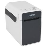 Brother labelprinter: Professionele labelprinter voor RD labels en rollen van 19 tot 63 mm - 203 dpi - Zwart, Grijs