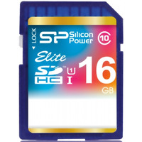 Silicon Power flashgeheugen: Elite UHS-I, 16GB - Blauw