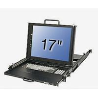 """Lindy rack console: KVM Terminal, 43.18 cm (17 """") LCD, Integrated 16 Port Modular KVM Switch, US layout - QZERTY"""