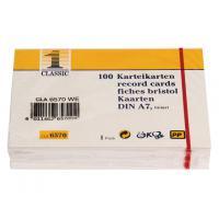 HIG SysteemkaartA7 lijn wt /pk100 indexkaart
