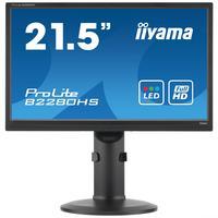 "Iiyama monitor: ProLite 21.5"" Full HD LED Monitor met Pivot-functie  - Zwart"