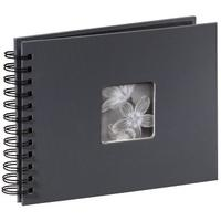 Hama Hama Fine Art spiraal grijs 24x17 50 zwarte pagina's 94884 (00094884)