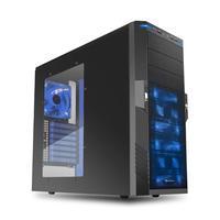 Sharkoon behuizing: T9 Value - Zwart, Blauw