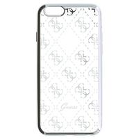 GUESS mobile phone case: 4G - Zilver, Transparant